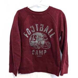 Sonoma 5/6 Burgundy Football Camp Sweatshirt